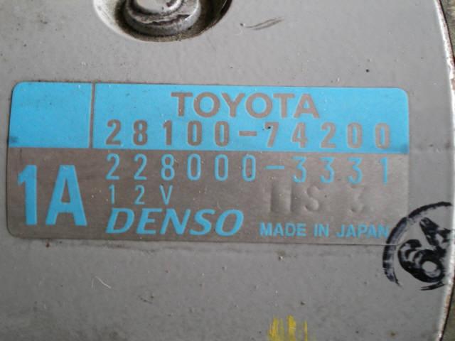 Стартер TOYOTA GAIA SXM15G 3S-FE. Фото 2