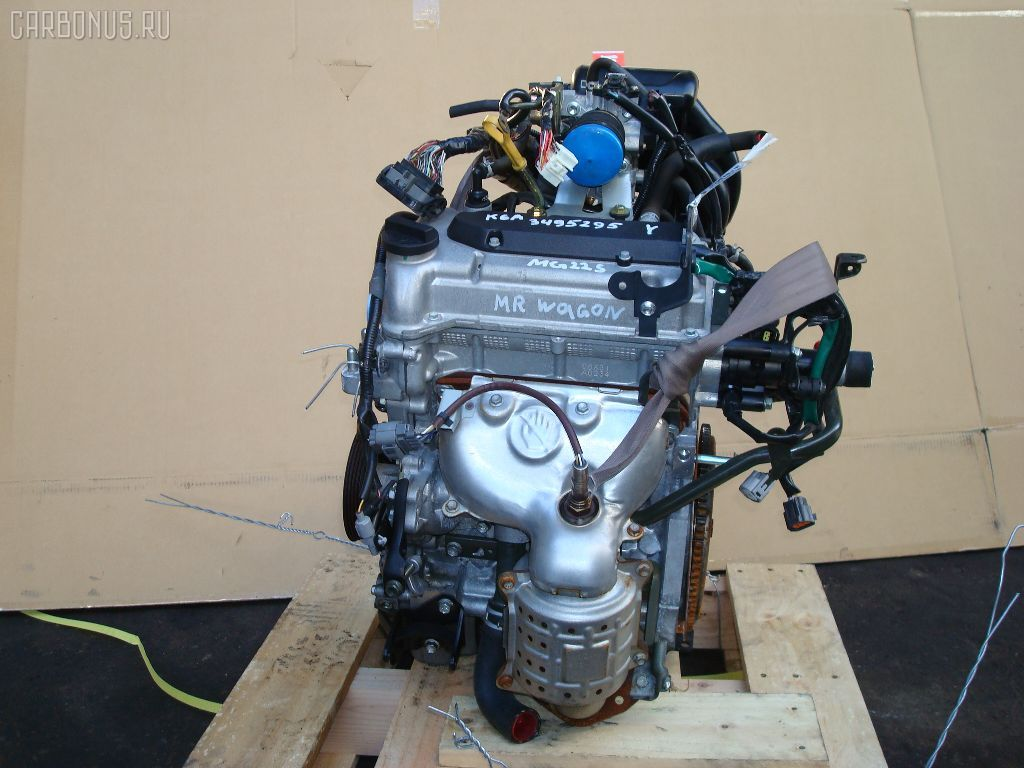 Двигатель NISSAN MOCO MG22S K6A. Фото 4