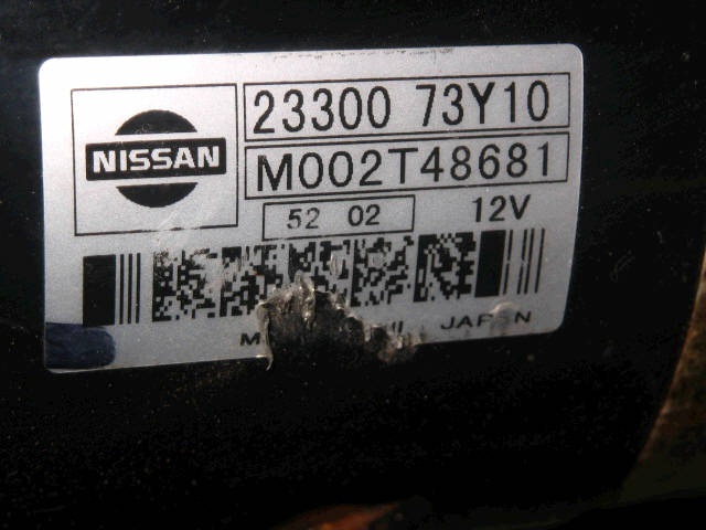 Стартер NISSAN WINGROAD WHY11 QG18DE. Фото 5