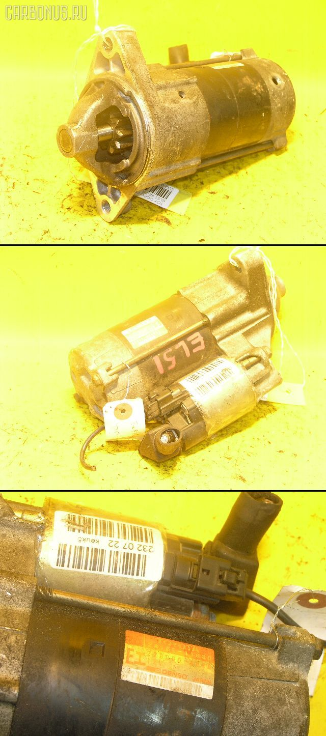 Стартер TOYOTA CYNOS EL52 4E-FE. Фото 7