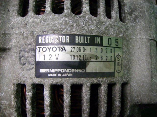 Генератор TOYOTA TOWN ACE KR42V 7K. Фото 2