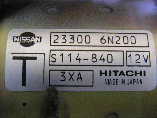 Стартер NISSAN SERENA TNC24 QR20DE. Фото 9