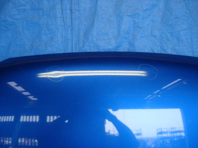 Капот SUBARU IMPREZA WAGON GG2. Фото 2