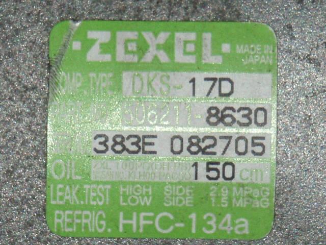 Компрессор кондиционера NISSAN TEANA J31 VQ23DE. Фото 6