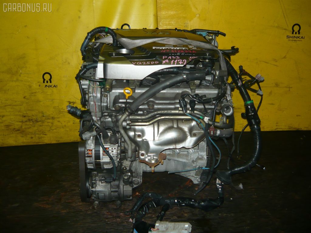 Двигатель NISSAN CEFIRO PA33 VQ25DD. Фото 5