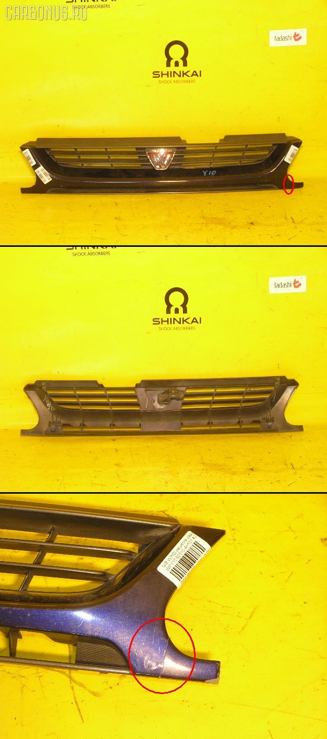 Решетка радиатора NISSAN WINGROAD WFY10. Фото 2