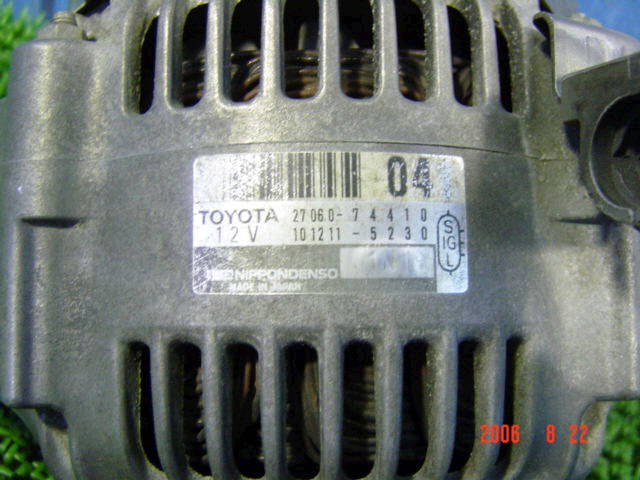 Генератор TOYOTA VISTA SV40 4S-FE. Фото 11