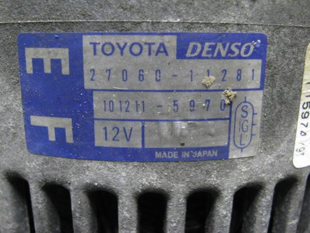 Генератор TOYOTA RAUM EXZ10 5E-FE. Фото 2
