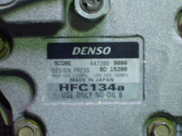 Компрессор кондиционера DAIHATSU YRV M200G EJ-VE. Фото 2