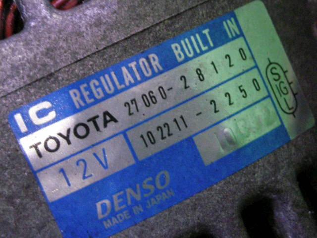 Генератор TOYOTA OPA ACT10 1AZ-FSE. Фото 2