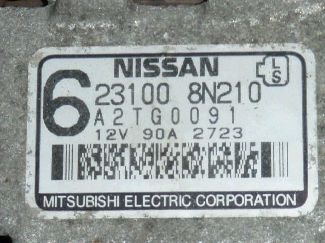 Генератор NISSAN SUNNY FNB15 QG15DE. Фото 3