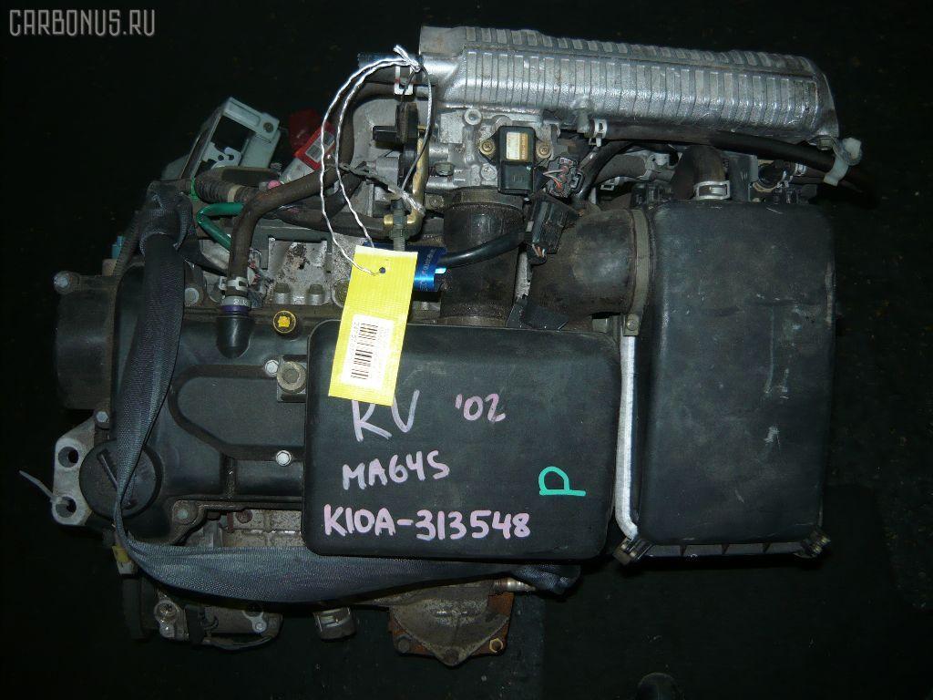 Двигатель SUZUKI WAGON R SOLIO MA64S K10A. Фото 5