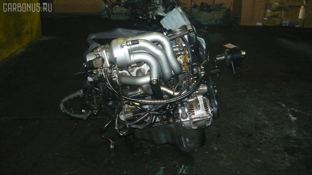 Двигатель TOYOTA COROLLA WAGON EE103V 5E-FE. Фото 4