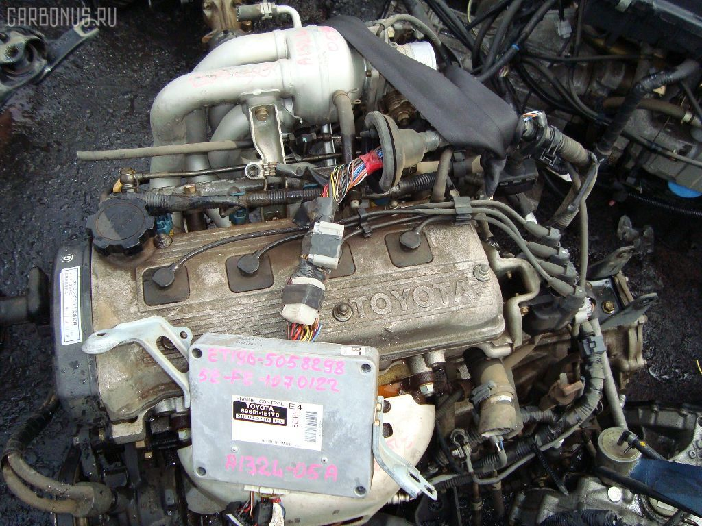 Двигатель TOYOTA SPRINTER WAGON EE104G 5E-FE. Фото 7