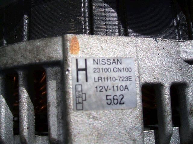 Генератор NISSAN TEANA J31 VQ23DE. Фото 9