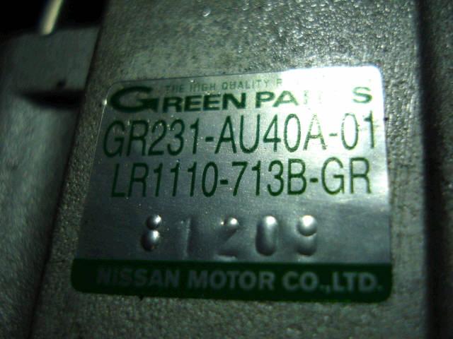 Генератор NISSAN LIBERTY RNM12 QR20DE. Фото 2