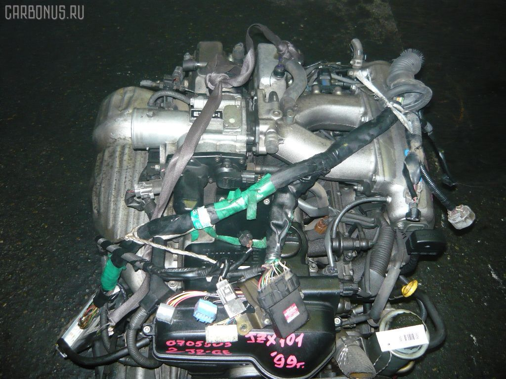 Двигатель TOYOTA CROWN JZS155 2JZ-GE. Фото 6