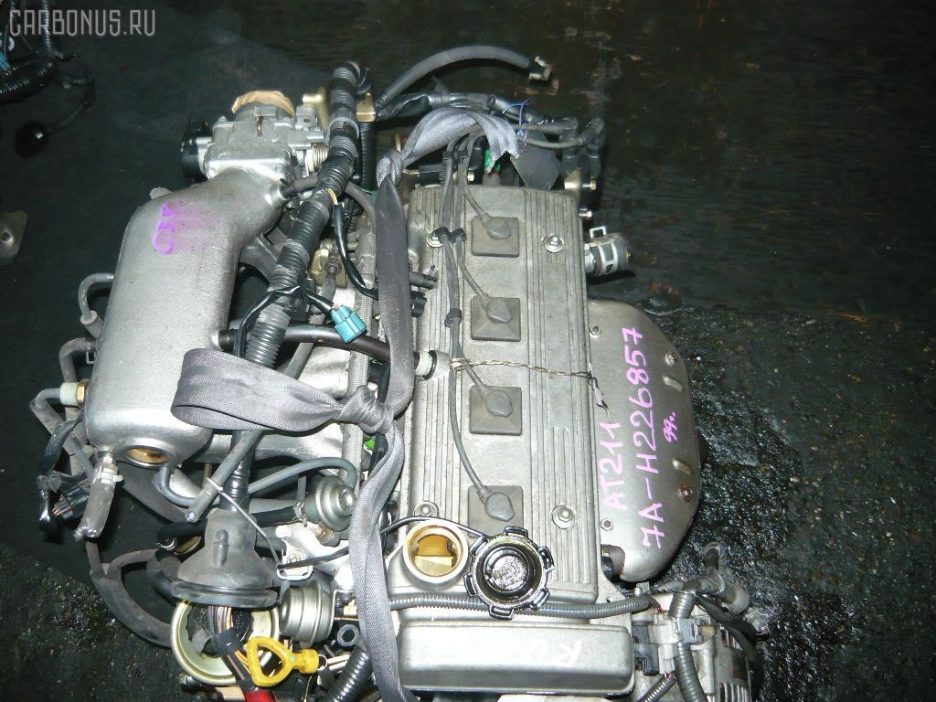 Двигатель TOYOTA CALDINA AT211G 7A-FE. Фото 2