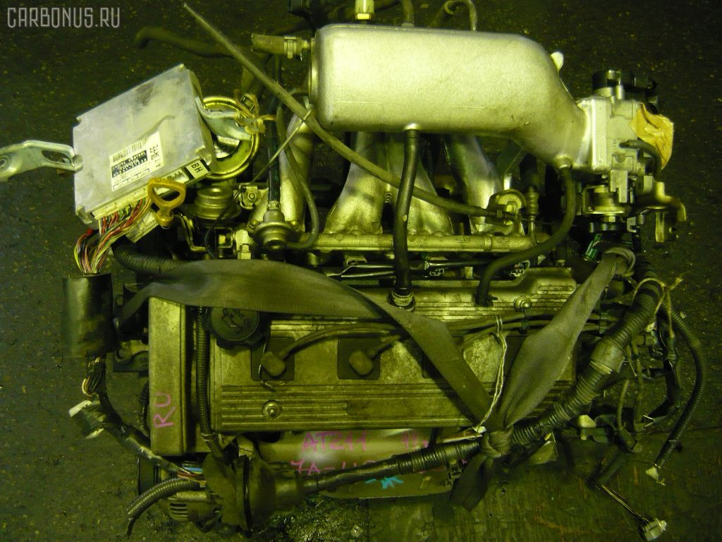 Двигатель TOYOTA CALDINA AT211G 7A-FE. Фото 9