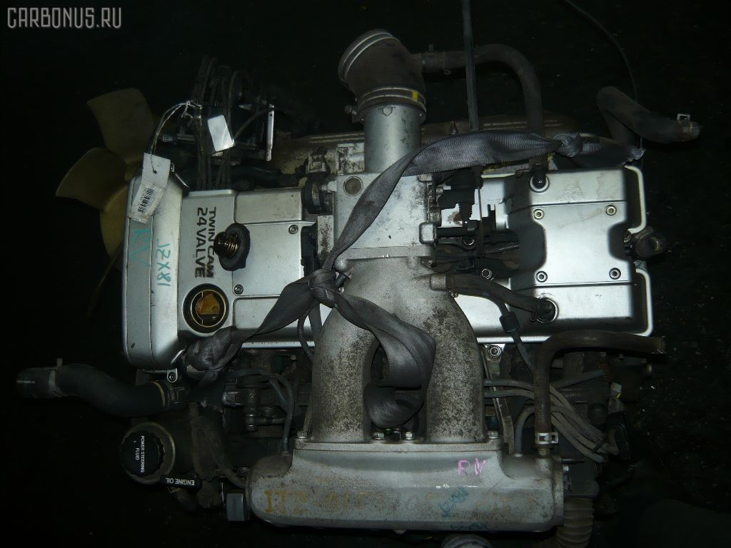 Двигатель TOYOTA MARK II JZX81 1JZ-GE. Фото 5