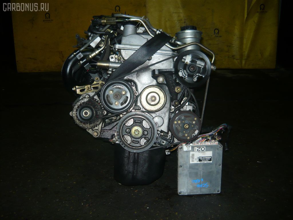 Двигатель TOYOTA VITZ SCP10 1SZ-FE. Фото 9