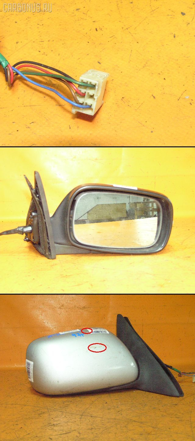 Зеркало двери боковой TOYOTA CARINA AT210. Фото 6
