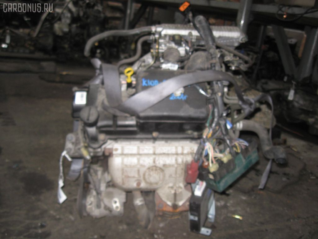 Двигатель SUZUKI WAGON R SOLIO MA64S K10A. Фото 6