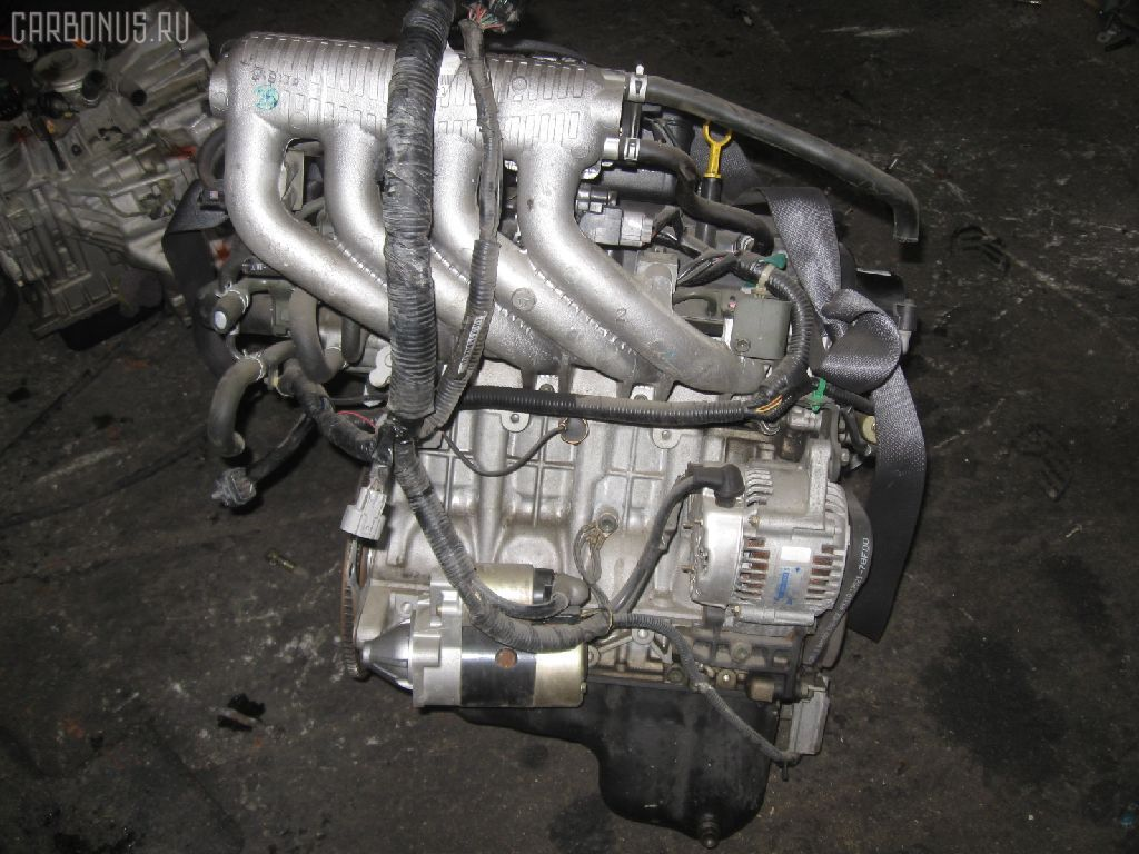 Двигатель SUZUKI WAGON R SOLIO MA64S K10A. Фото 8