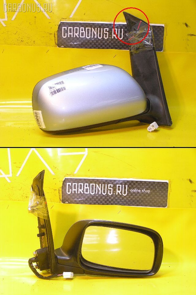 Зеркало двери боковой TOYOTA WISH ZNE14G. Фото 1