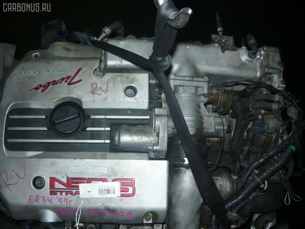 Двигатель NISSAN SKYLINE ER34 RB25DET. Фото 5