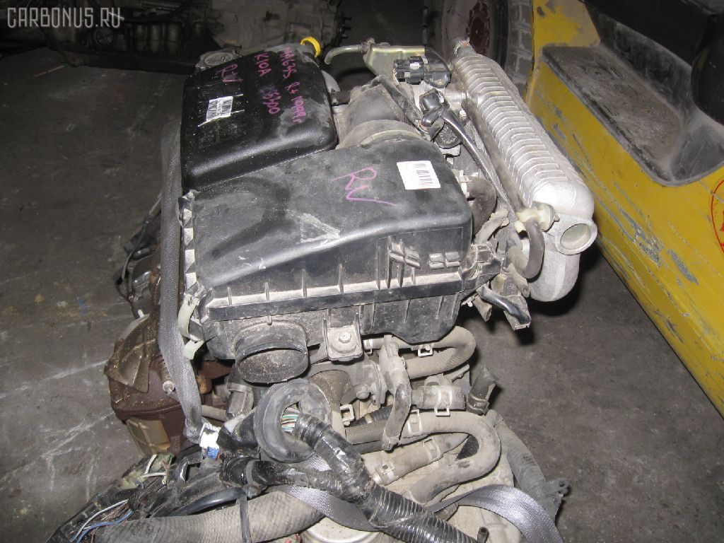 Двигатель SUZUKI WAGON R PLUS MA63S K10A. Фото 4