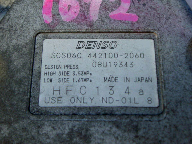 Компрессор кондиционера TOYOTA PLATZ NCP12 1NZ-FE. Фото 6