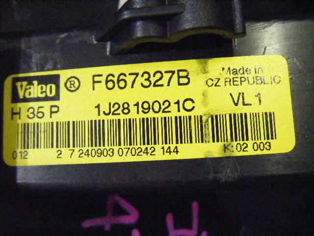 Мотор печки VOLKSWAGEN GOLF IV VARIANT 1JAPK. Фото 5