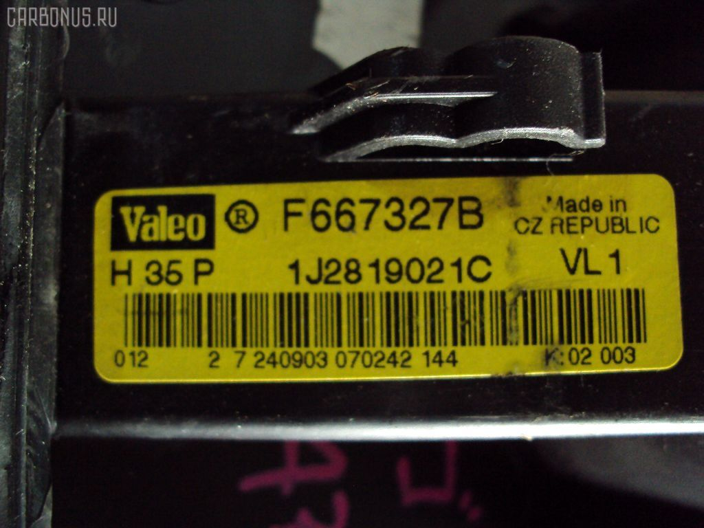 Мотор печки VOLKSWAGEN GOLF IV VARIANT 1JAPK. Фото 4
