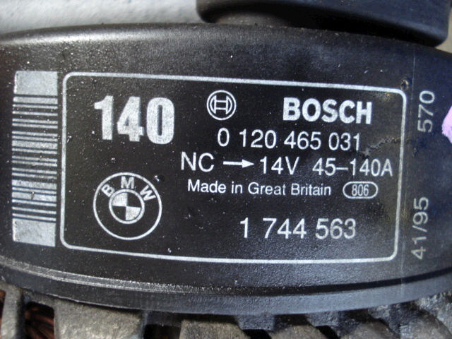 Генератор BMW 3-SERIES E36-CB25 M50-256S. Фото 5
