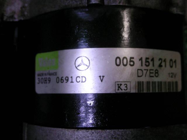 Стартер MERCEDES-BENZ A-CLASS W168.133 166.960. Фото 4