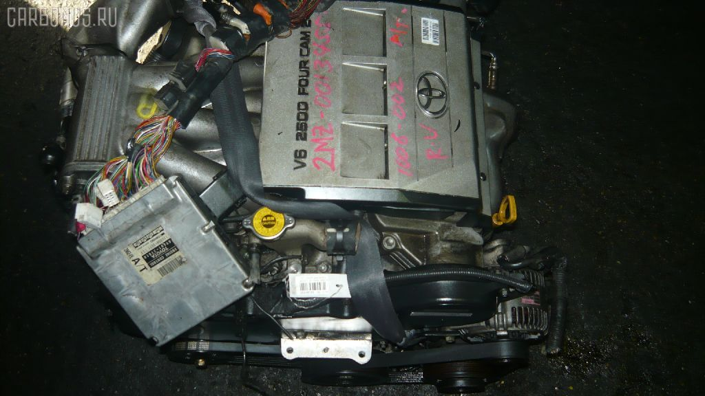 Двигатель TOYOTA MARK II QUALIS MCV21W 2MZ-FE. Фото 10