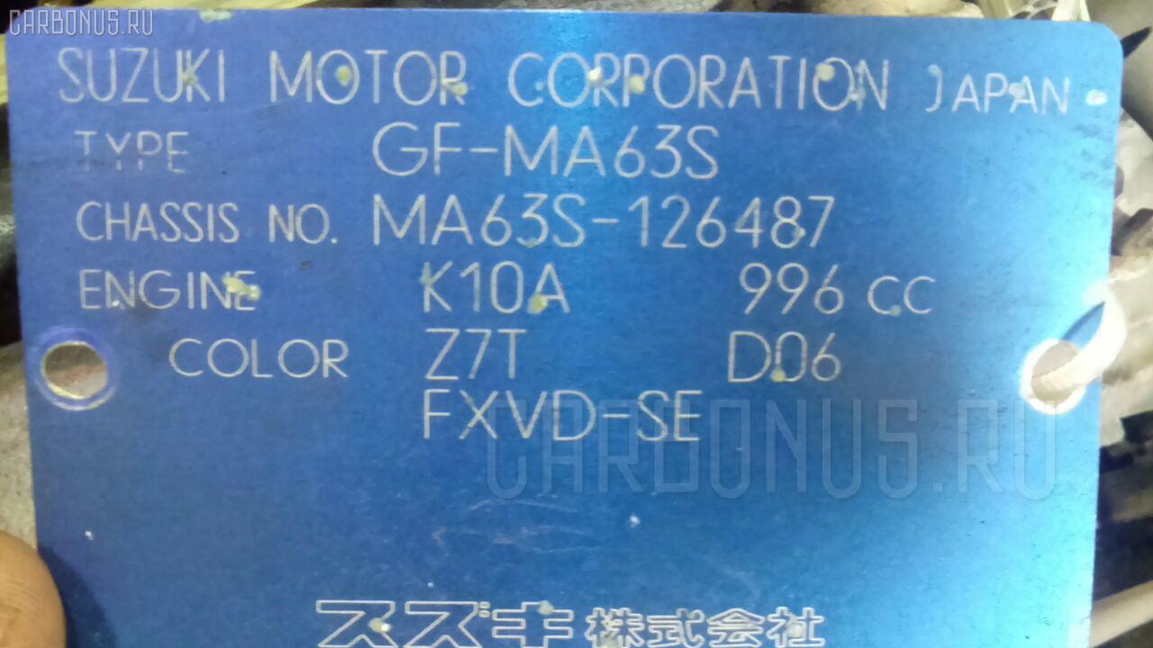 Двигатель SUZUKI WAGON R PLUS MA63S K10A. Фото 11