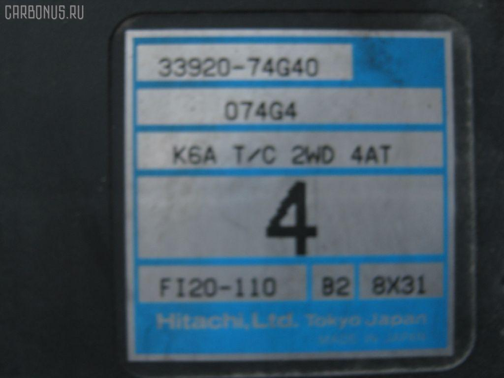 Двигатель SUZUKI KEI HN21S K6A-T. Фото 2