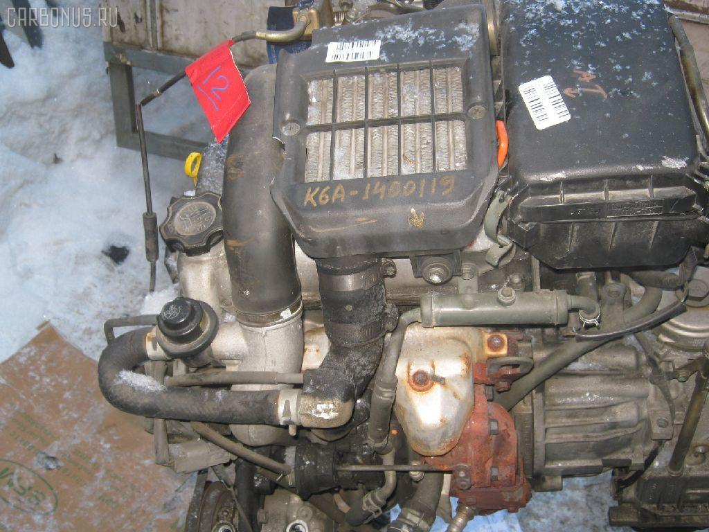 Двигатель SUZUKI KEI HN21S K6A-T. Фото 4