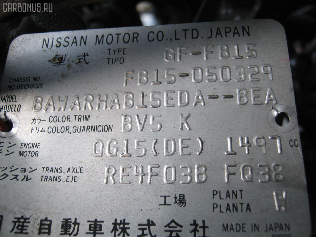 Двигатель NISSAN SUNNY FB15 QG15DE. Фото 2
