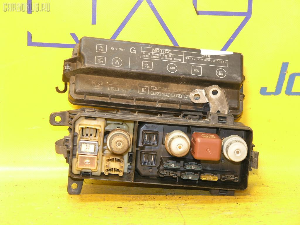 Блок предохранителей TOYOTA MARK II GX81 1G-FE. Фото 1