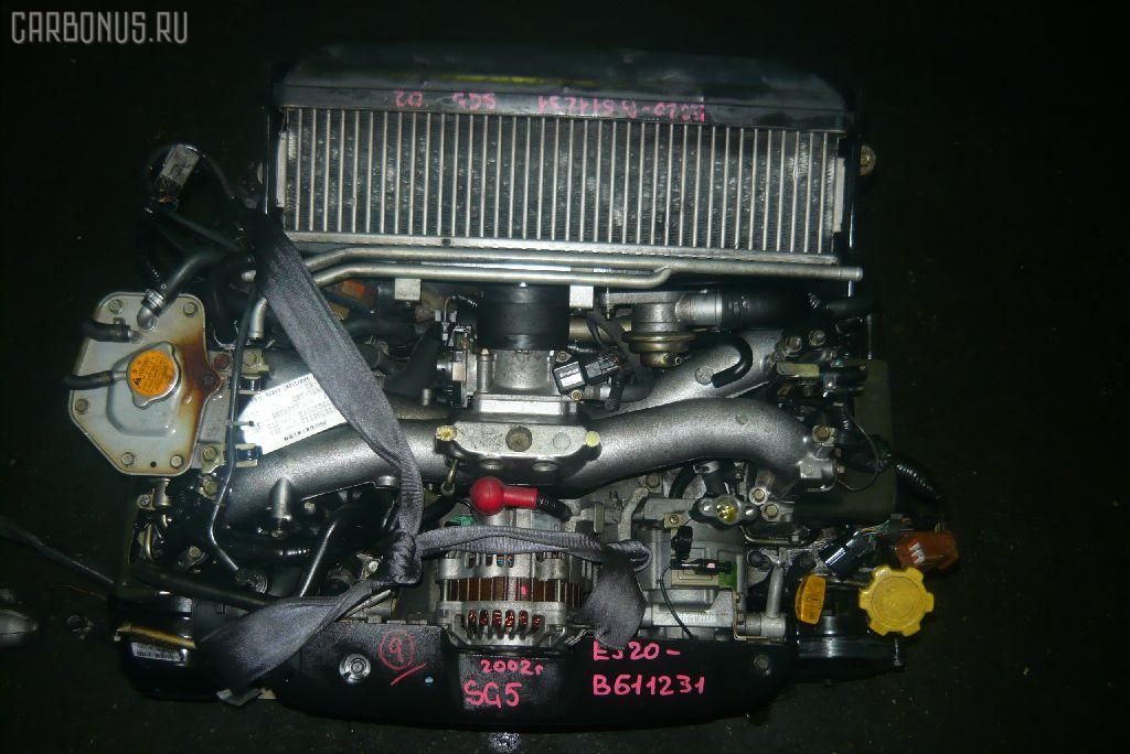 Двигатель SUBARU FORESTER SG5 EJ205-T. Фото 7