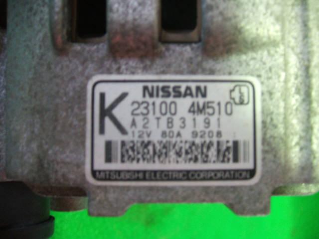Генератор NISSAN SUNNY FNB15 QG15DE. Фото 5