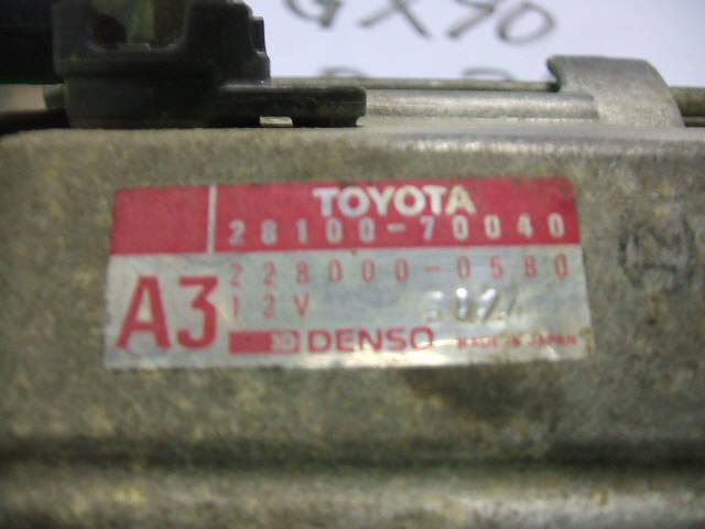 Стартер TOYOTA CRESTA GX90 1G-FE. Фото 4