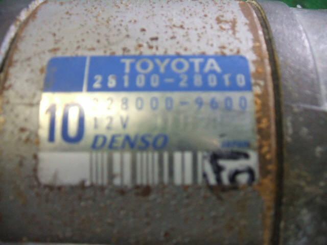 Стартер TOYOTA OPA ACT10 1AZ-FSE. Фото 4