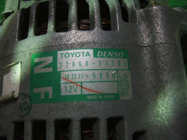 Генератор TOYOTA IST NCP65 1NZ-FE. Фото 2