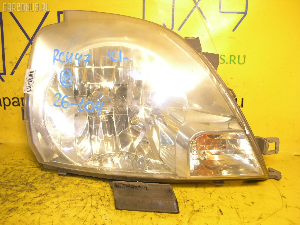 Фара TOYOTA HIACE REGIUS RCH47W. Фото 1