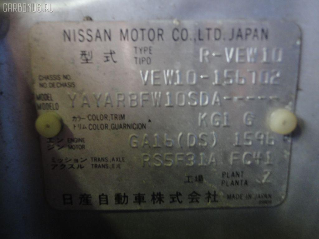 Ремень безопасности NISSAN AVENIR VEW10 GA16DS Фото 4