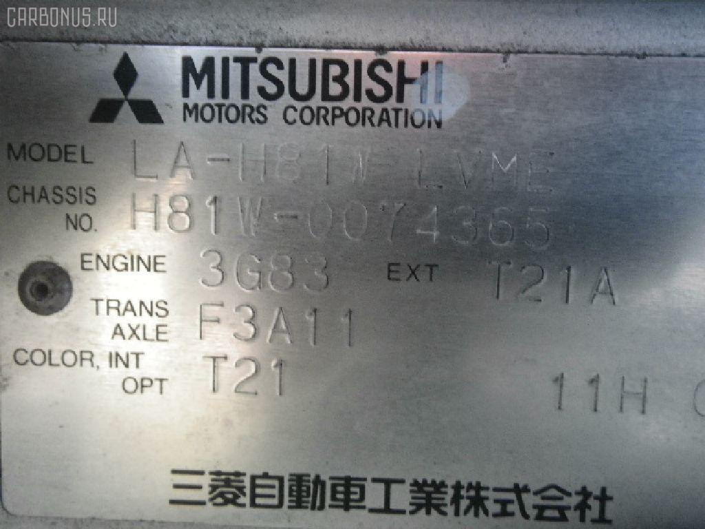 Air bag MITSUBISHI EK WAGON H81W Фото 2